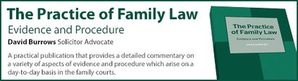 David Burrows - Practice of Family Law: Evidence and Procedure