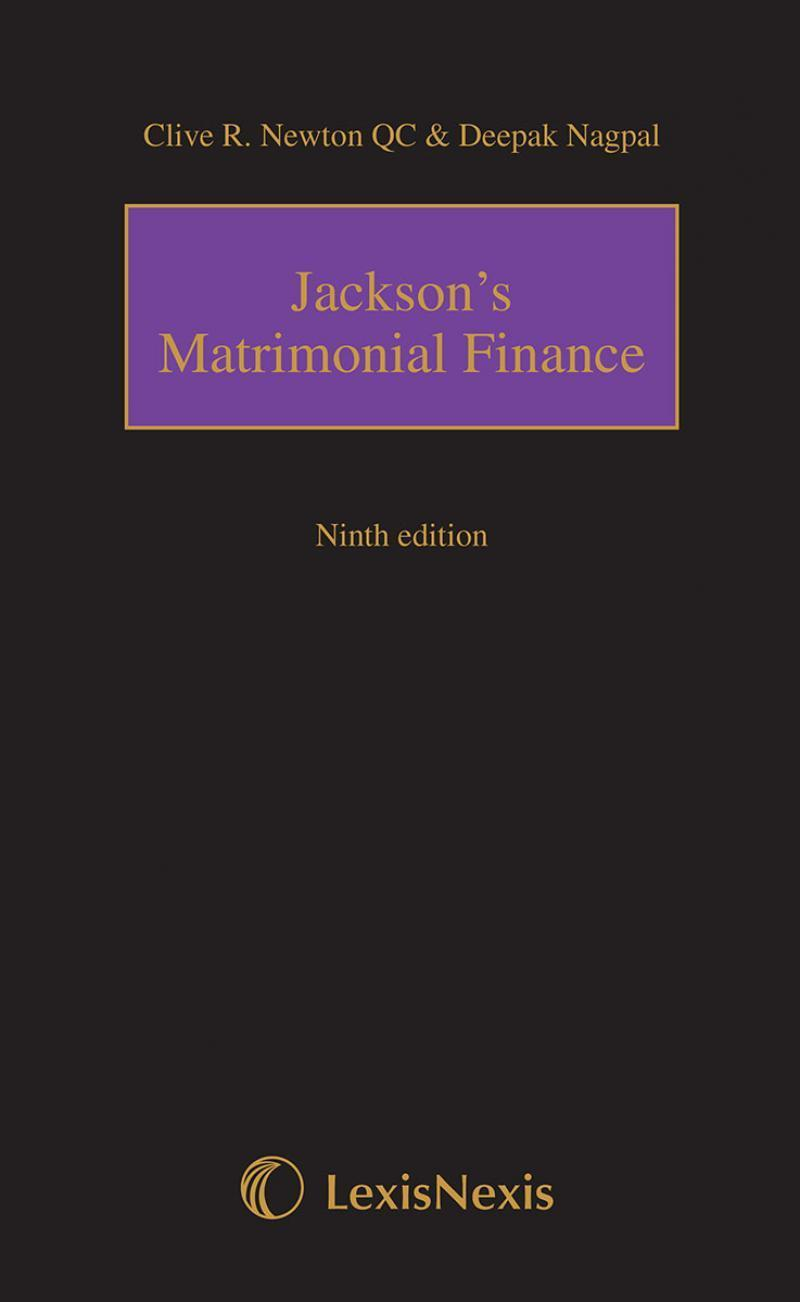 Jackson's Matrimonial Finance eBook