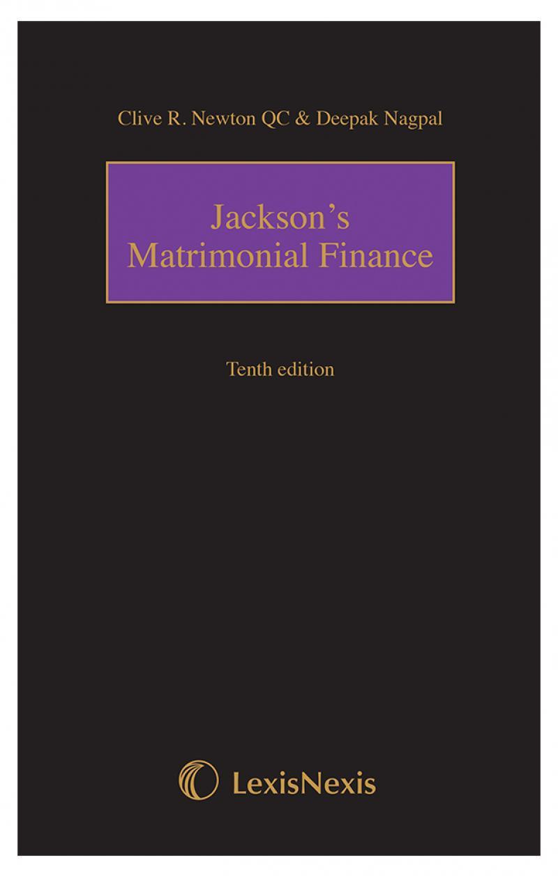 Jackson's Matrimonial Finance Tenth Edition